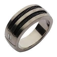 titanium wedding rings uk 10mm titanium black rope wedding ring titanium rings at elma uk