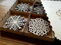 wood snowflake ornament card laser cut by ppointcreates