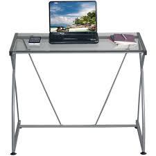 Techni Mobili Graphite Frosted Glass L Shaped Computer Desk Furniture Techni Mobili Desk Techni Computer Desk Techni
