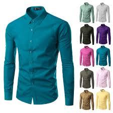 2017 fashion color aliexpress com buy 2017 fashion brand mens shirt long sleeve