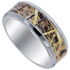 mens titanium camo wedding band mm caymancode