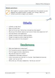 othello quote list ks4 othello teachit english