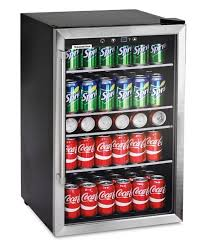 Small Desk Refrigerator Small Refrigerator Glass Door Beverage Cooler Home Bar Room