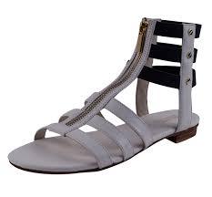 michael kors mk codie gladiator sandal optic strappy flat zip shoe