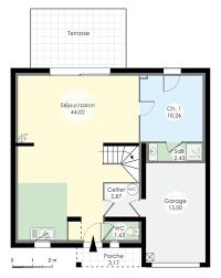 plan de maison avec cuisine ouverte le plan du rez de chaussée nous montre un immense salon avec sa