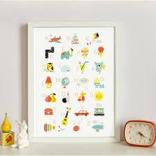 Kids Room Prints by Affiche Zü Alphabet Illustrations