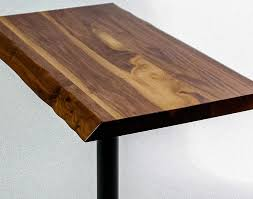 Walnut Live Edge Table by Live Edge Table Collection Viridian Reclaimed Wood