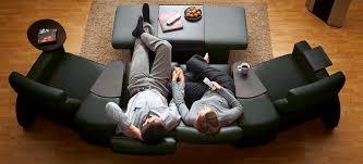 stressless canapé canapé contemporain en tissu 3 places à dossier haut arion