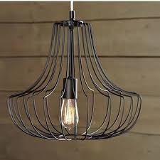 Quality Lighting Fixtures Dia40cm 60cm Quality Novelty Iron Metal Cage Net Wire Pendant
