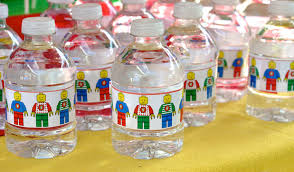 Decorate Water Bottle Lego Cherry On Top Parties