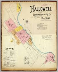 Maine Maps Hallowell Kennebec Co Maine Sheet 1 Index David Rumsey