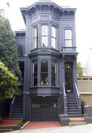 san francisco window with garage door exterior victorian and