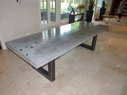 How To Make A Concrete Table by How To Make A Concrete Dining Table Concrete Dining Table An