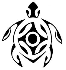 polynesian tribal turtle tattoo design