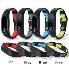 silicone strap bracelet images Double color wrist strap for xiaomi mi band 2 silicone strap jpg