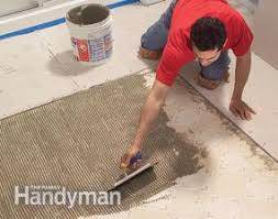Laying Tile Floor In Bathroom - how to lay tile install a ceramic tile floor in the bathroom