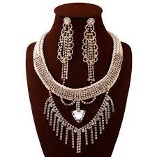 vintage crystal statement necklace images Buy fashion vintage crystal cluster long tassel jpg