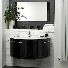 Hudson Reed Bathroom Furniture Hudson Reed Moon Wall Hung Furniture Set High Gloss Black