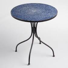 Outdoor Bistro Table Peacoat Blue Cadiz Outdoor Bistro Collection World Market