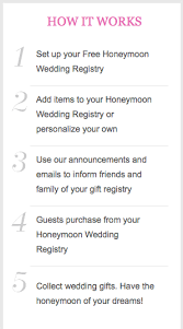 what is gift registry for wedding what is a honeymoon gift registry