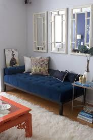 living rooms navy velvet tufted bench design ideas