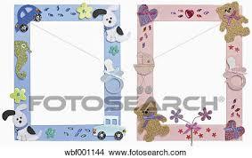 immagini cornici per bambini archivio fotografico due cornici per bambini contro sfondo