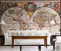 antique world map wall mural funky store antique world map wall mural