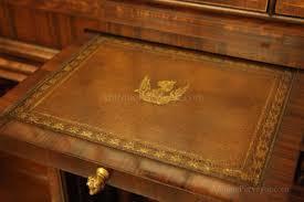 antique mahogany secretary desk with rosewood
