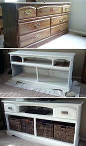 heir and space an antique oak dresser turned media console turn