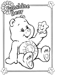 cool care bear coloring pages care bear coloring pages image 8