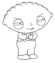 stewie griffin coloring pages family guy coloring pages logo