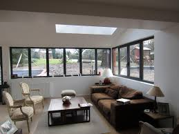 Couleur Menuiserie Alu Agrandissement Extension D U0027une Maison Individuelle Extension