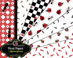 picnic party paper printable picnic party invitation paper ladybug