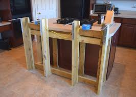 adding an island to an existing kitchen diy breakfast bar frame built to an existing kitchen island