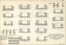 book of plans of the new york state barge canal typical lock