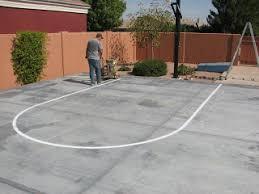 Backyard Basketball Half Court Moyers Contracting Inc