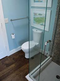 bathroom shower and toilet together bathroom off dining room all