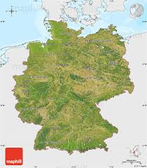 Map Og Germany by Satellite Map Of Germany Single Color Outside Bathymetry Sea