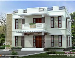 home beautiful flat roof house plans square meter flat roof house kerala home