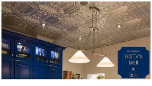 decorative ceiling tiles as seen on hgtv u0027s love it or list it