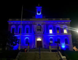 sf city hall lights south san francisco s city hall lights go blue this week in support