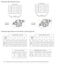 28 bow window sizes bow amp bay window sizes and bow window sizes bay window size chart classic windows inc