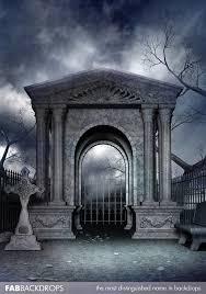 Halloween Backdrop Vinyl Spooky Cemetery Halloween Backdrop