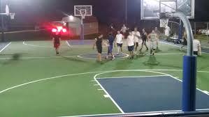 best method for outdoor basketball court lighting