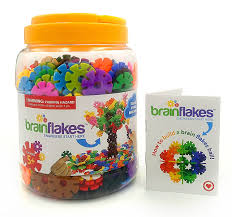 amazon com viahart brain flakes 500 piece interlocking plastic