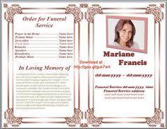 memorial service program template download u2026 memorial service