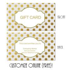 customized gift cards free printable gift card templates that can be customized online