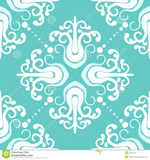 ornamental pattern with damask motifs stock vector illustration of