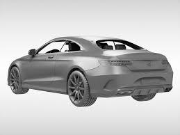 mercedes s63 amg coupe 2015 3d mercedes s63 amg coupe 2015 cgtrader