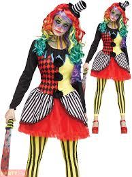 Halloween Clown Costumes by Ladies Freakshow Clown Costume Adults Halloween Fancy Dress Horror